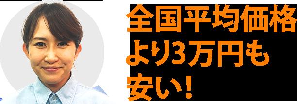 全国平均価格より3万円も安い!