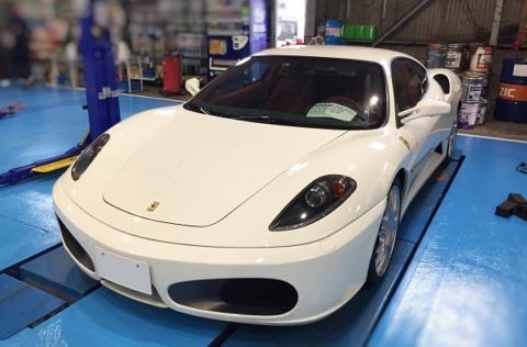 輸入車の車検もお任せ下さい!フェラーリF430が入庫しました!